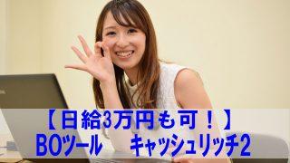 バイナリーオプション始めるならキャッシュリッチ2【日給3万円も可!】